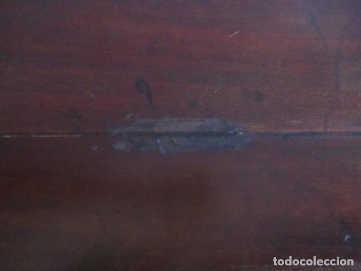 Antigüedades: Antigua Mesa - Consola Imperio - Madera de Caoba - Patas de Garra Doradas - Año 1800 - Foto 24 - 117044487