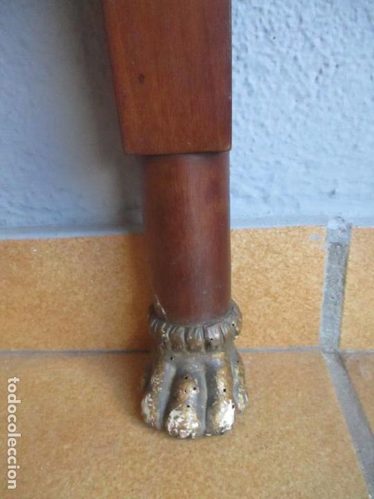 Antigüedades: Antigua Mesa - Consola Imperio - Madera de Caoba - Patas de Garra Doradas - Año 1800 - Foto 26 - 117044487