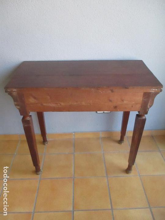 Antigüedades: Antigua Mesa - Consola Imperio - Madera de Caoba - Patas de Garra Doradas - Año 1800 - Foto 27 - 117044487