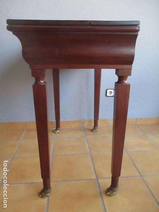 Antigüedades: Antigua Mesa - Consola Imperio - Madera de Caoba - Patas de Garra Doradas - Año 1800 - Foto 30 - 117044487
