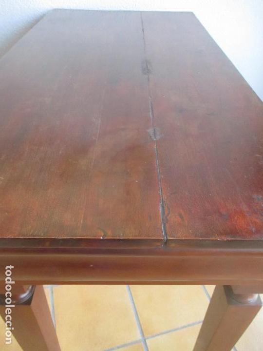 Antigüedades: Antigua Mesa - Consola Imperio - Madera de Caoba - Patas de Garra Doradas - Año 1800 - Foto 31 - 117044487