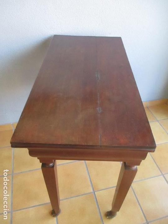 Antigüedades: Antigua Mesa - Consola Imperio - Madera de Caoba - Patas de Garra Doradas - Año 1800 - Foto 32 - 117044487