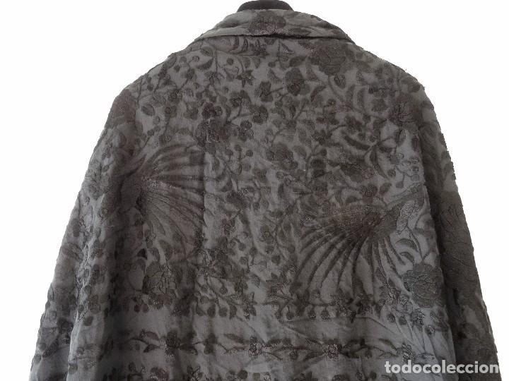 Antigüedades: Mantón negro bordado - Foto 11 - 117052647