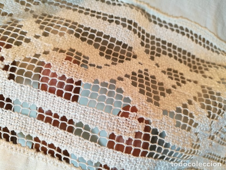 Antigüedades: ROQUETE SOBREPELLIZ. ROPA DE SACERDOTE..LINO-ALGODON PLISADO Y ENCAJE CON BORLA CUELLO - Foto 18 - 117070627