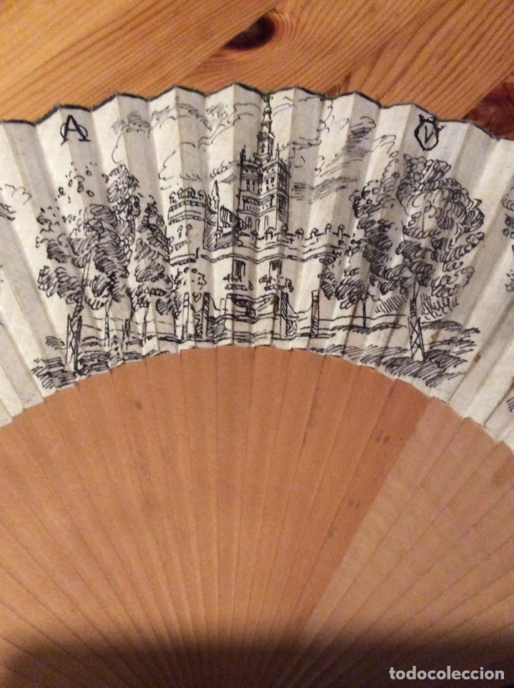 Antigüedades: Antiguo abanico Sevilla firmado J. Gomez Toros Feria Baile - Foto 5 - 117077814