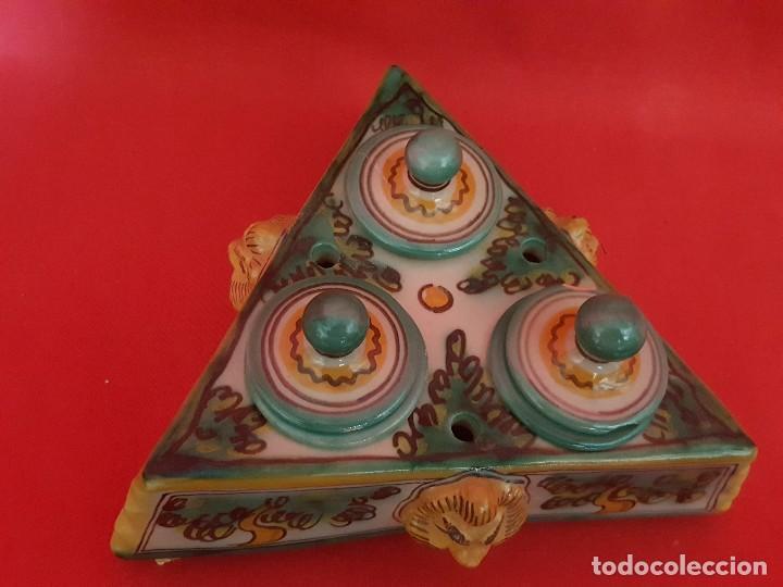 Antigüedades: Escribanía o tintero PUENTE DEL ARZOPISPO. - Foto 3 - 117120127