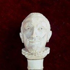 Antigüedades: BASTÓN DE VÉRTEBRAS DE TIBURÓN Y HUESO. CIRCA S. XIX.. Lote 117124803