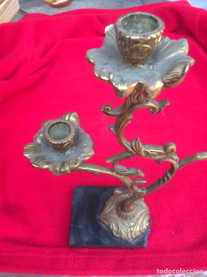 Antigüedades: 2 CANDELABRO DE DOS BRAZOS - Foto 4 - 117131535