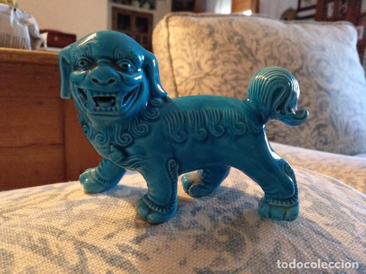 PERRO FOO PORCELANA CHINA CON MARCA (Antigüedades - Porcelanas y Cerámicas - China)