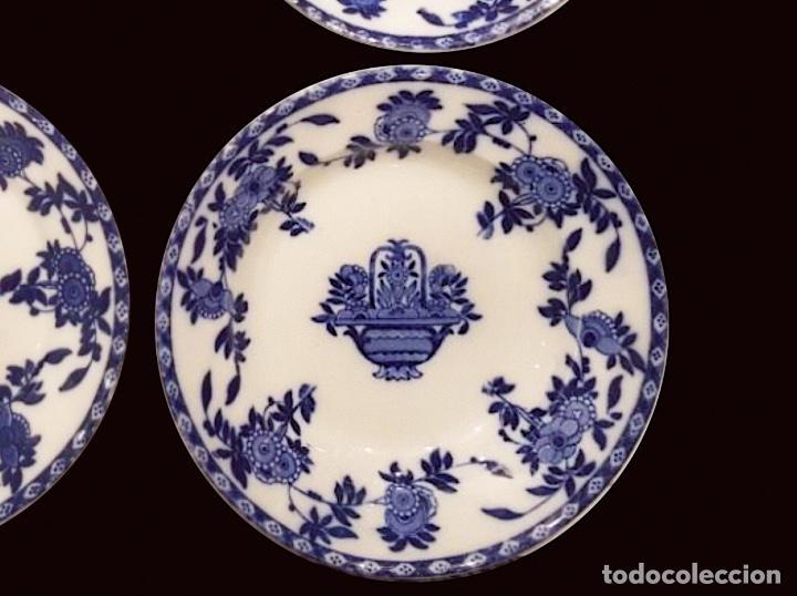 Antigüedades: Antiquísimos platos de porcelana, san juan de aznalfarache, serie india, Sevilla. s. XIX. - Foto 2 - 117136767