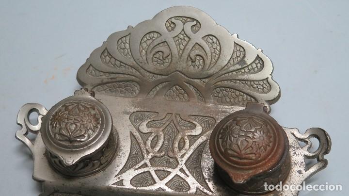 Antigüedades: PRECIOSA ESCRIBANIA DE HIERRO. ART NOUVEAU. SELLO FUNDICION. SIGLO XIX - Foto 2 - 117161015