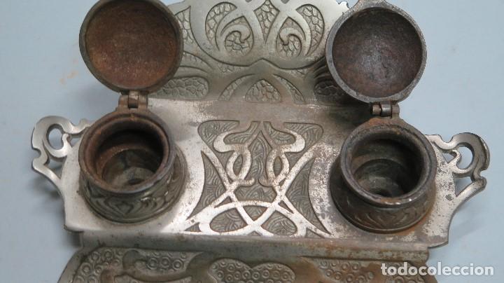 Antigüedades: PRECIOSA ESCRIBANIA DE HIERRO. ART NOUVEAU. SELLO FUNDICION. SIGLO XIX - Foto 4 - 117161015