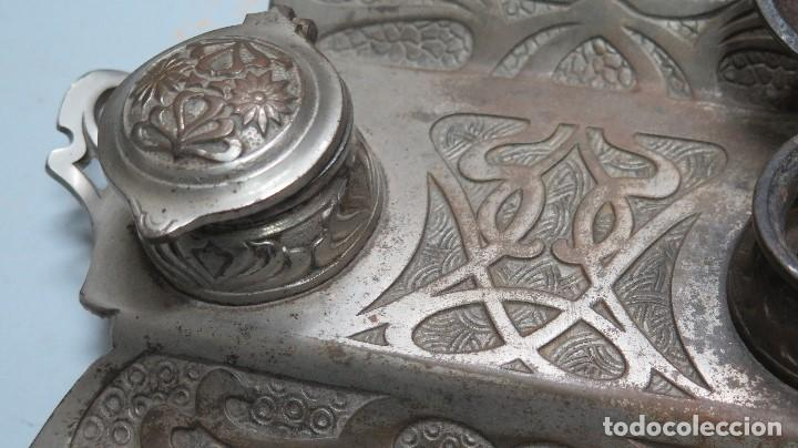 Antigüedades: PRECIOSA ESCRIBANIA DE HIERRO. ART NOUVEAU. SELLO FUNDICION. SIGLO XIX - Foto 5 - 117161015