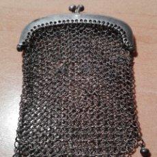 Antiques - antiguo bolso o monedero de malla de plata - 83854792