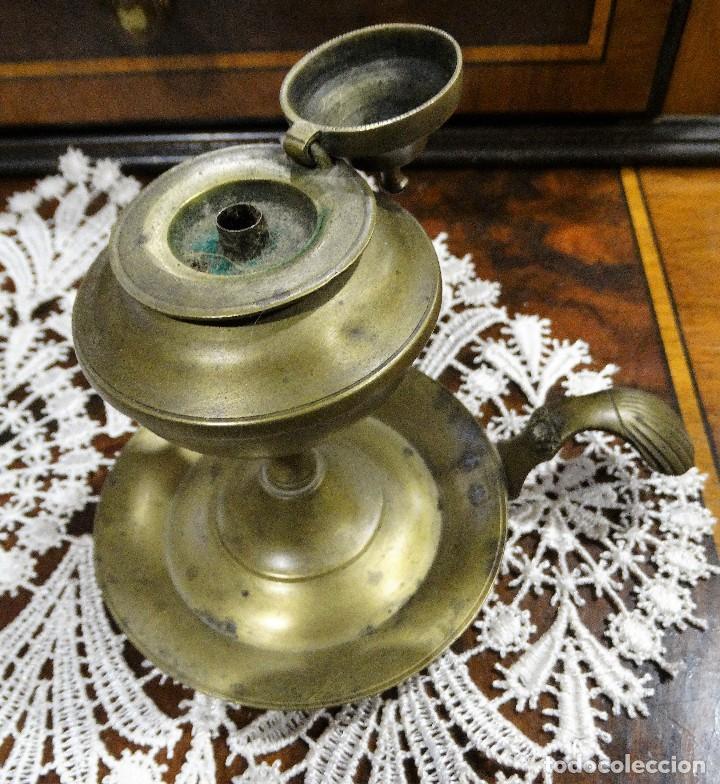 Antigüedades: INCENSIARIO- PALMATORIA ANTIGUO DE BRONCE - Foto 2 - 117192319