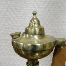 Antigüedades: INCENSIARIO- PALMATORIA DE BRONCE ANTIGUO. Lote 117193371