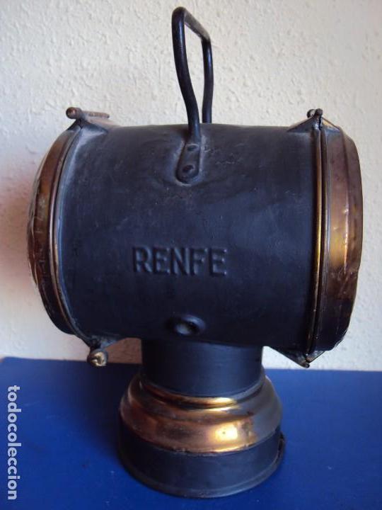 Antigüedades: (ANT-180417)FAROL LATERAL DE COLA PLACA DE RENFE - CASTEJON DE EBRO - Foto 3 - 117210983