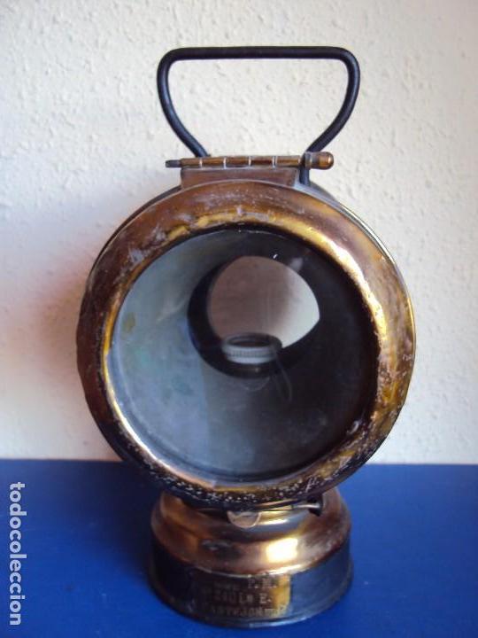 Antigüedades: (ANT-180417)FAROL LATERAL DE COLA PLACA DE RENFE - CASTEJON DE EBRO - Foto 4 - 117210983