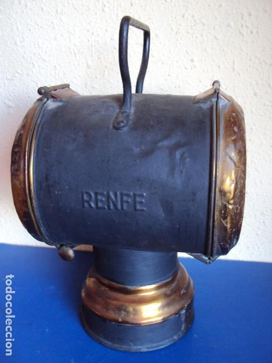 Antigüedades: (ANT-180417)FAROL LATERAL DE COLA PLACA DE RENFE - CASTEJON DE EBRO - Foto 6 - 117210983