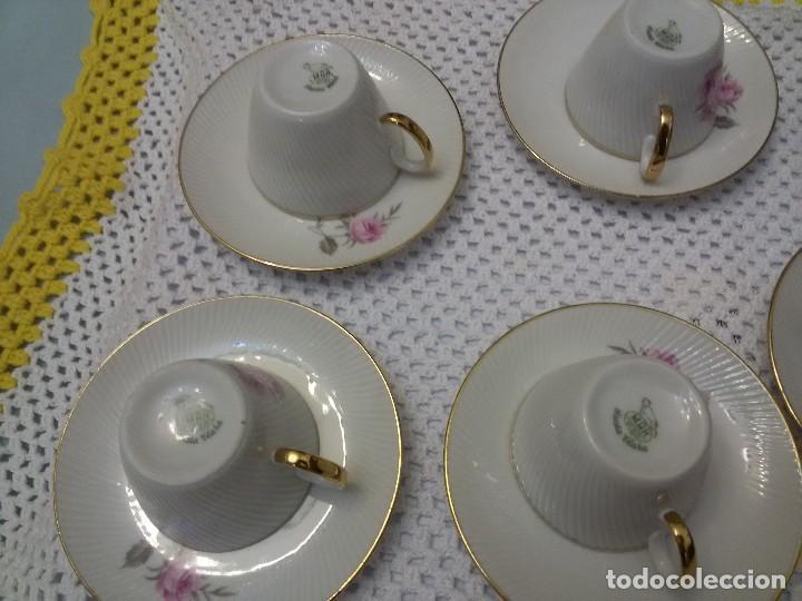 Antigüedades: ANTIGUO JUEGO DE CAFE CON CINCO TAZAS-PORCELANA-MAH VIGO - Foto 6 - 117214527
