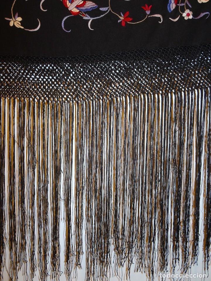 Antigüedades: Manton de seda negro - Foto 10 - 117215723
