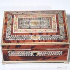 Antigüedades - Caja de carey y marfil - 117217579
