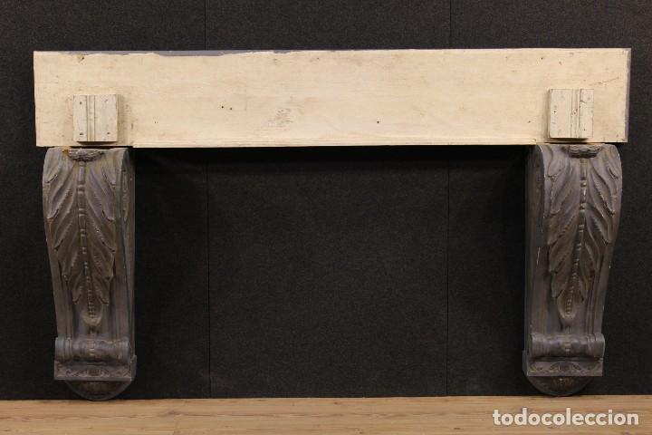 Antigüedades: Consola francesa en madera lacada y tallada del siglo XX - Foto 2 - 117222739