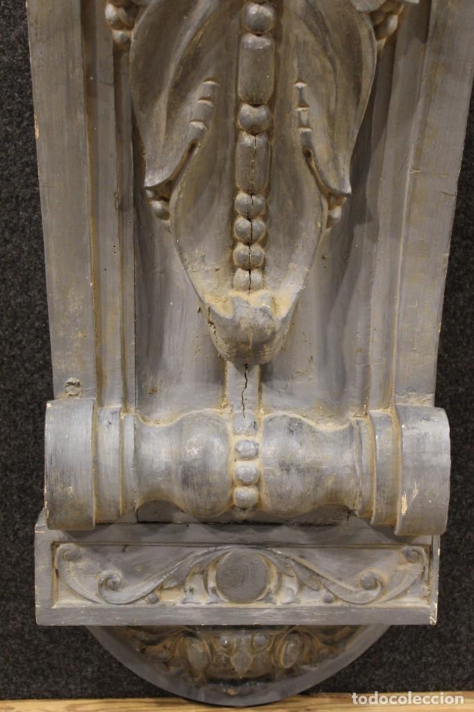 Antigüedades: Consola francesa en madera lacada y tallada del siglo XX - Foto 3 - 117222739