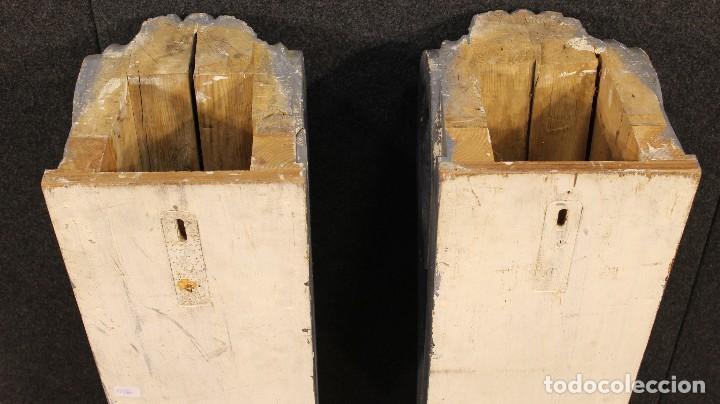 Antigüedades: Consola francesa en madera lacada y tallada del siglo XX - Foto 5 - 117222739