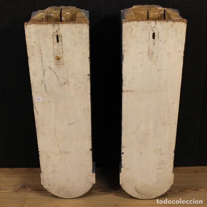 Antigüedades: Consola francesa en madera lacada y tallada del siglo XX - Foto 6 - 117222739
