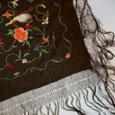 Antigüedades - manton de manila antiguo isabelino ala de mosca - 117228939
