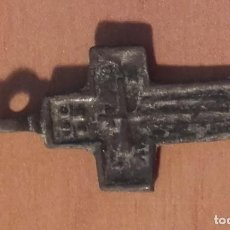Antigüedades: 1452 MON - ANTIGUA CRUZ CON GRABADO LOBULADO. Lote 117237639