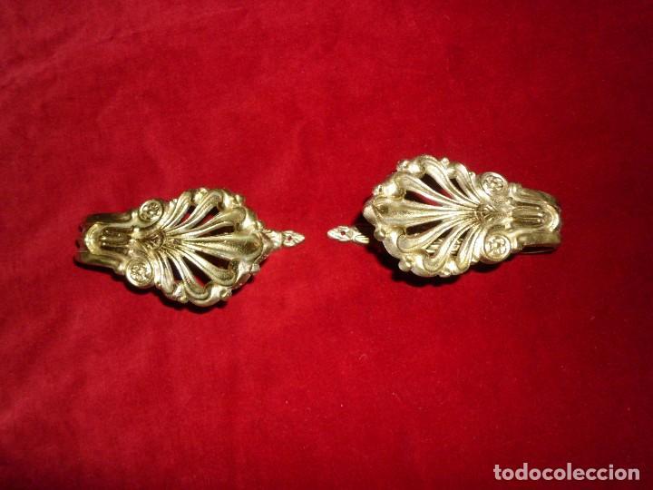Antigüedades: ANTIGUO ALZA PAÑOS BRONCE CON ORMOLU - Foto 5 - 117248183