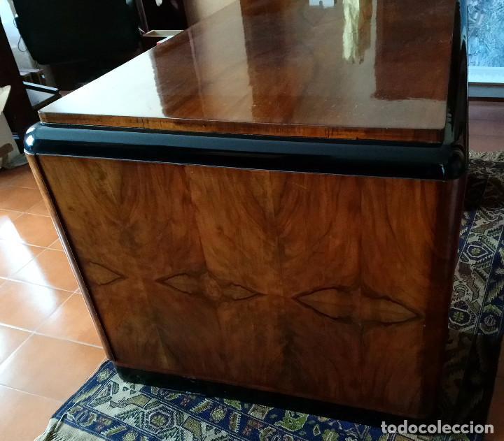 Antigüedades: Fabulosa mesa de despacho Art Decó de Caoba y Palisandro. - Foto 4 - 117272555