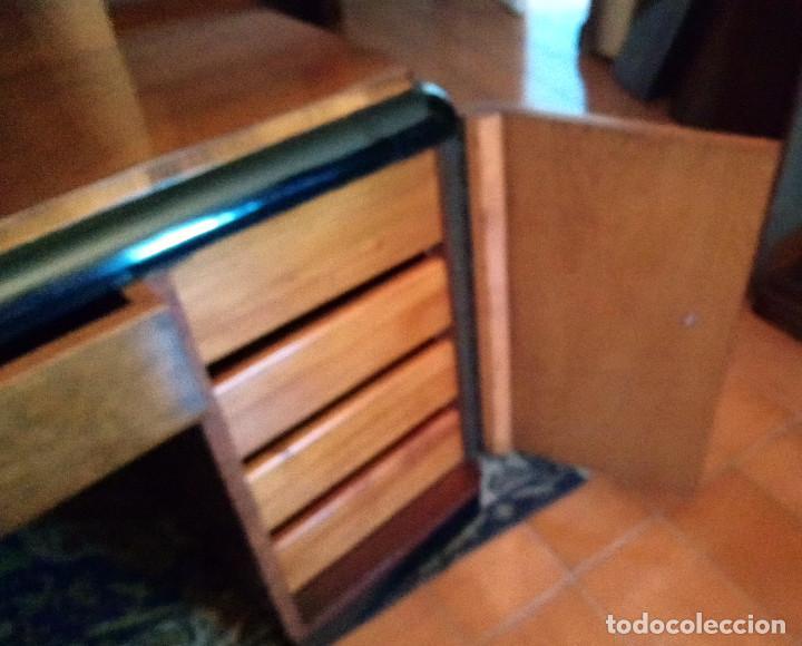 Antigüedades: Fabulosa mesa de despacho Art Decó de Caoba y Palisandro. - Foto 10 - 117272555