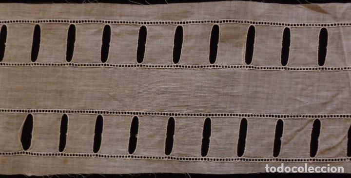 Antigüedades: ANTIGUO ENTREDOS DE BATISTA MUY FINA PRINCIPIO S.XX - Foto 2 - 117275079