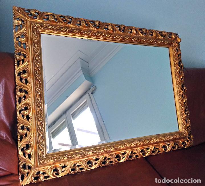 marco antiguo de madera estucada, grande y muy - Comprar Marcos ...