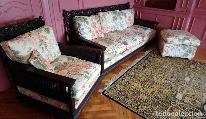 Cl sico conjunto estilo colonial compuesto por comprar sof s antiguos en todocoleccion 117280915 - Sofas estilo colonial ...