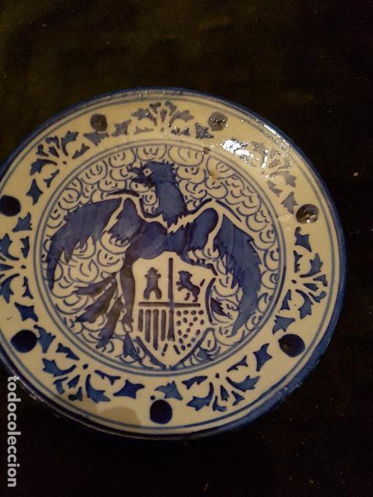 PLATO DE CERÁMICA DE TRIANA. (Antigüedades - Porcelanas y Cerámicas - Triana)