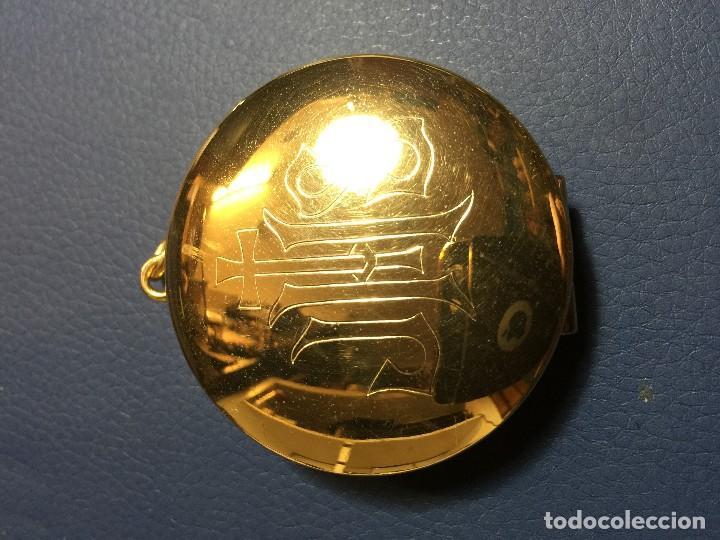 Antigüedades: Caja Porta Hostias u Hostiero - Foto 2 - 117304135
