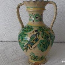 Antigüedades: JARRA DOBLE ASA RECONSTRUIDA PUENTE DEL ARZOBISPO SIGLO XIX (VER DESCRIPCION Y FOTOS). Lote 148754714