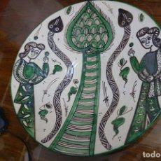 Antigüedades: PLATO DE LOZA DE TERUEL . Lote 117325743