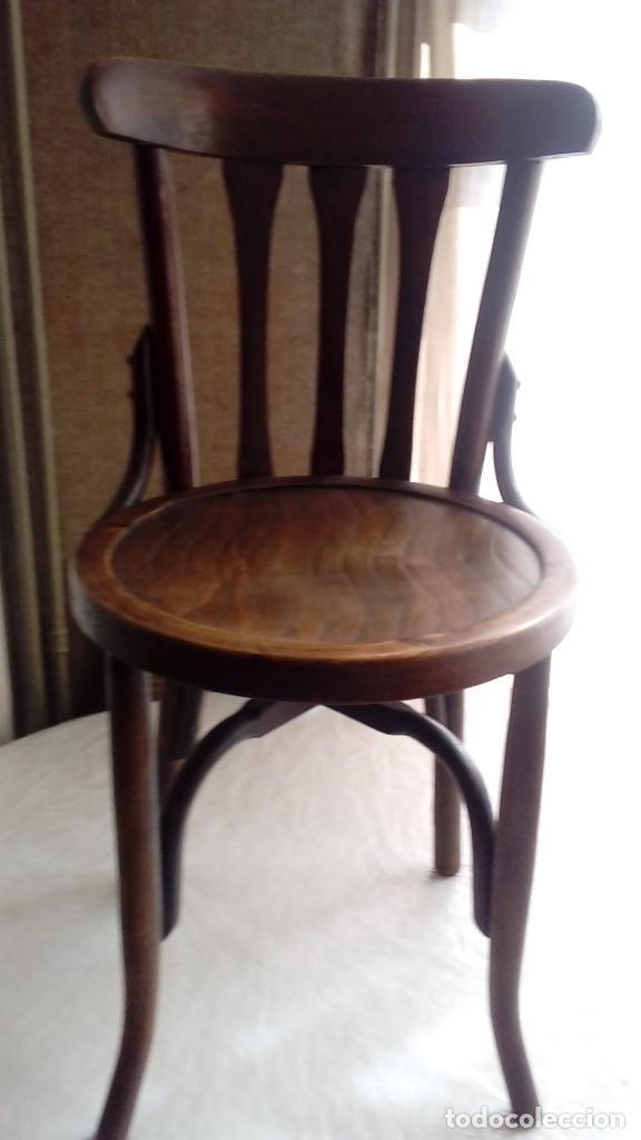 6 sillas antiguas de madera de haya- años 50 pa - Kaufen Antike ...