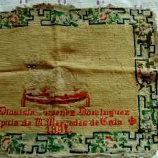 Antigüedades: ANTIGUO TAPIZ 1891. Lote 117332076
