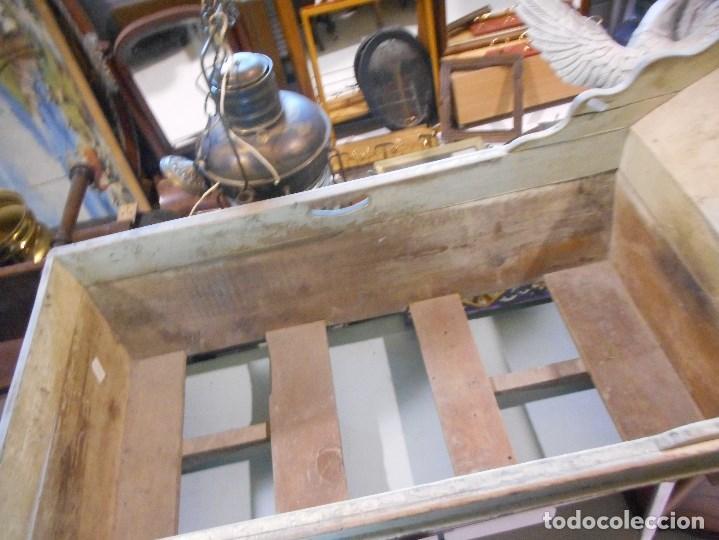 Antigüedades: antigua cuna madera balancin muy buen estado perfecta para decoracion - Foto 4 - 117338015