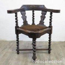 Antigüedades: ANTIGUA SILLA DE ESQUINA HISTORICISMO. 1850 - 1880. Lote 117348379