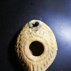 Antigüedades: AUTENTICA LUCERNA ROMANA S.IIA.C- S.I D.C, TIPO TIERRA SANTA, CON CERTIFICADO DE AUTENTICIDAD . Lote 117348891