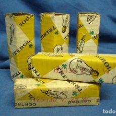 Antigüedades: BOMBILLAS TREBOL - 125/130 V. 25W. - 5 UNIDADES. Lote 120501838