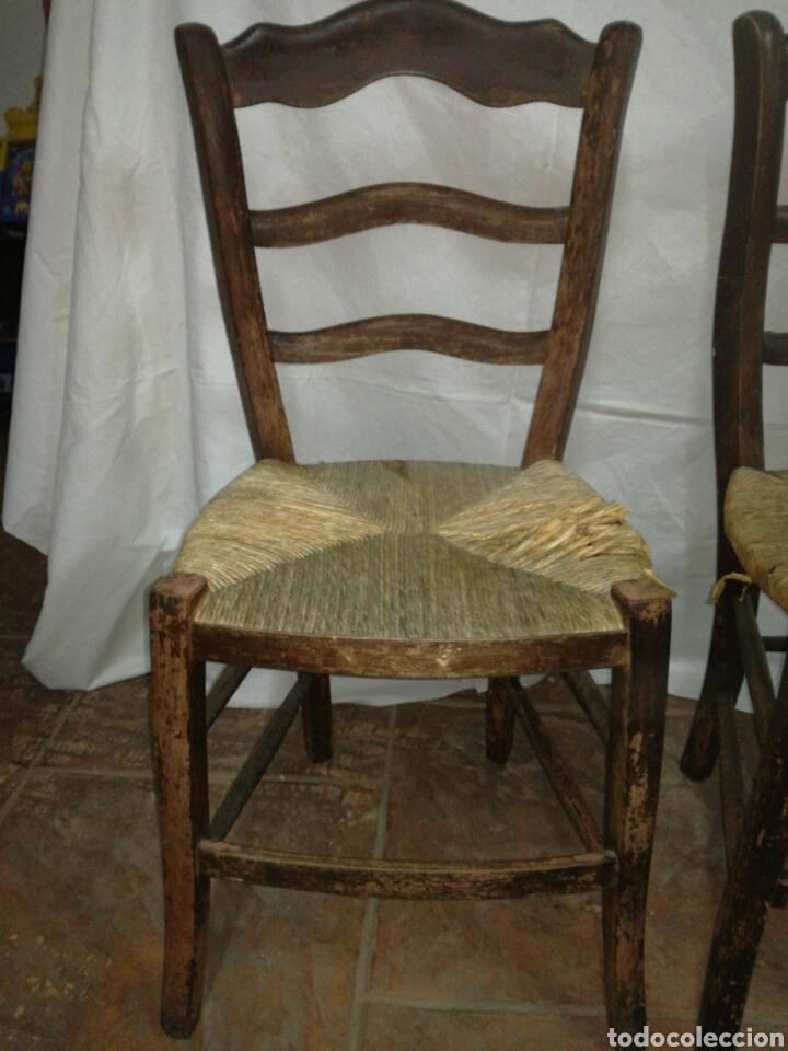 Antigüedades: Pareja de antiguas sillas para restaurar - Foto 2 - 117377858