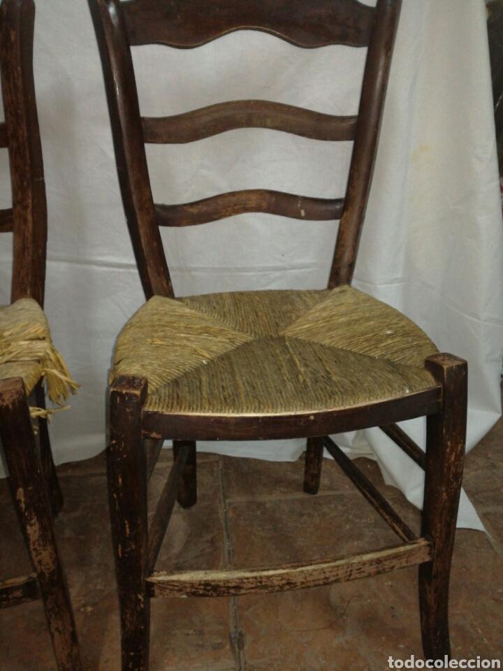 Antigüedades: Pareja de antiguas sillas para restaurar - Foto 3 - 117377858